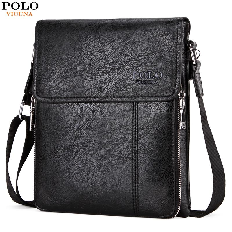 90a5bf7f8a82 VICUNA POLO Famous Brand Double Zipper Soft Leather Men Messenger Bag Large  Capacity Crossbody Men s Bags Casual Shoulder Bag Leather Men Messenger Bag  Mans ...