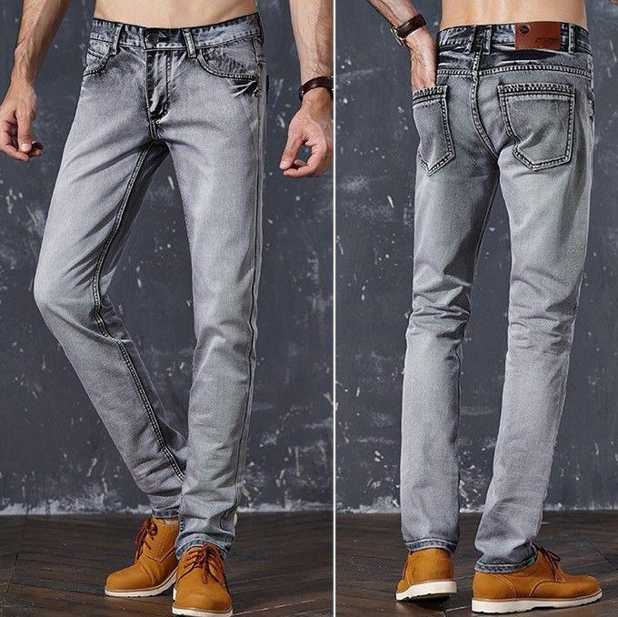 9f7799a86 Compre YG6170 A1388 2018 Primavera Y Verano Nueva Versión Coreana Hombres  Tubo Recto Jeans Gris Oscuro Tendencia De La Moda Barato Al Por Mayor A  $31.12 Del ...