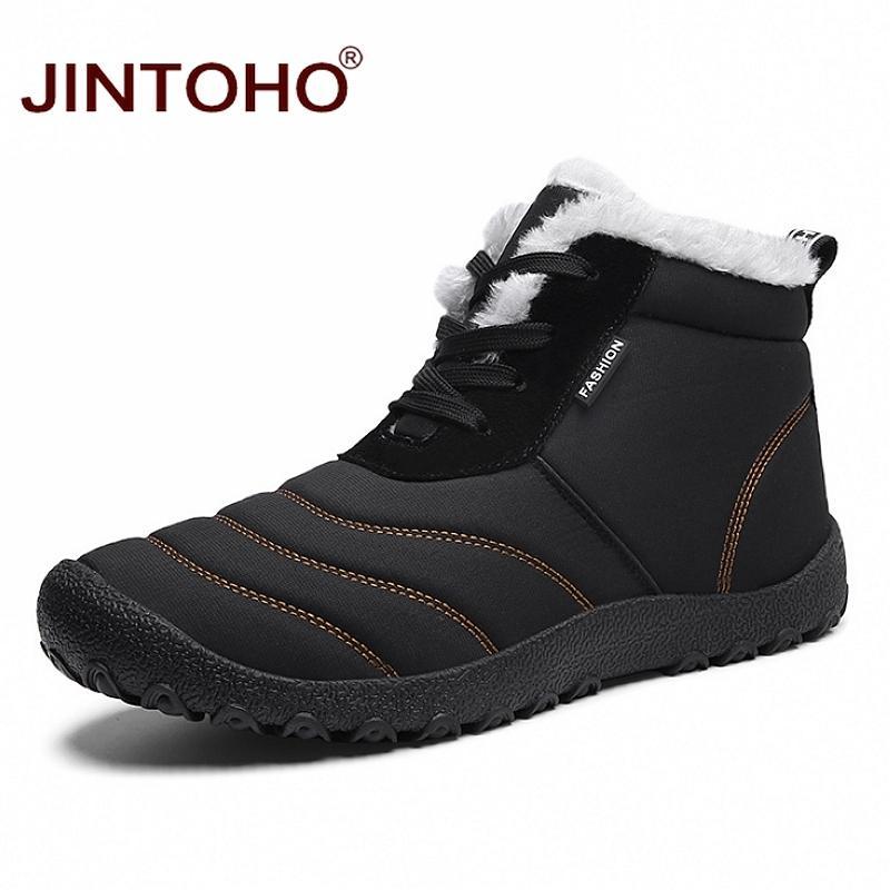 07feeab0d2e6 JINTOHO Super Warm Men Winter Boots For Men Warm Waterproof Rain Boots  Shoes 2018 New Men S Ankle Snow Boot Botas Masculina Bota Low Boots Cheap  Shoes ...