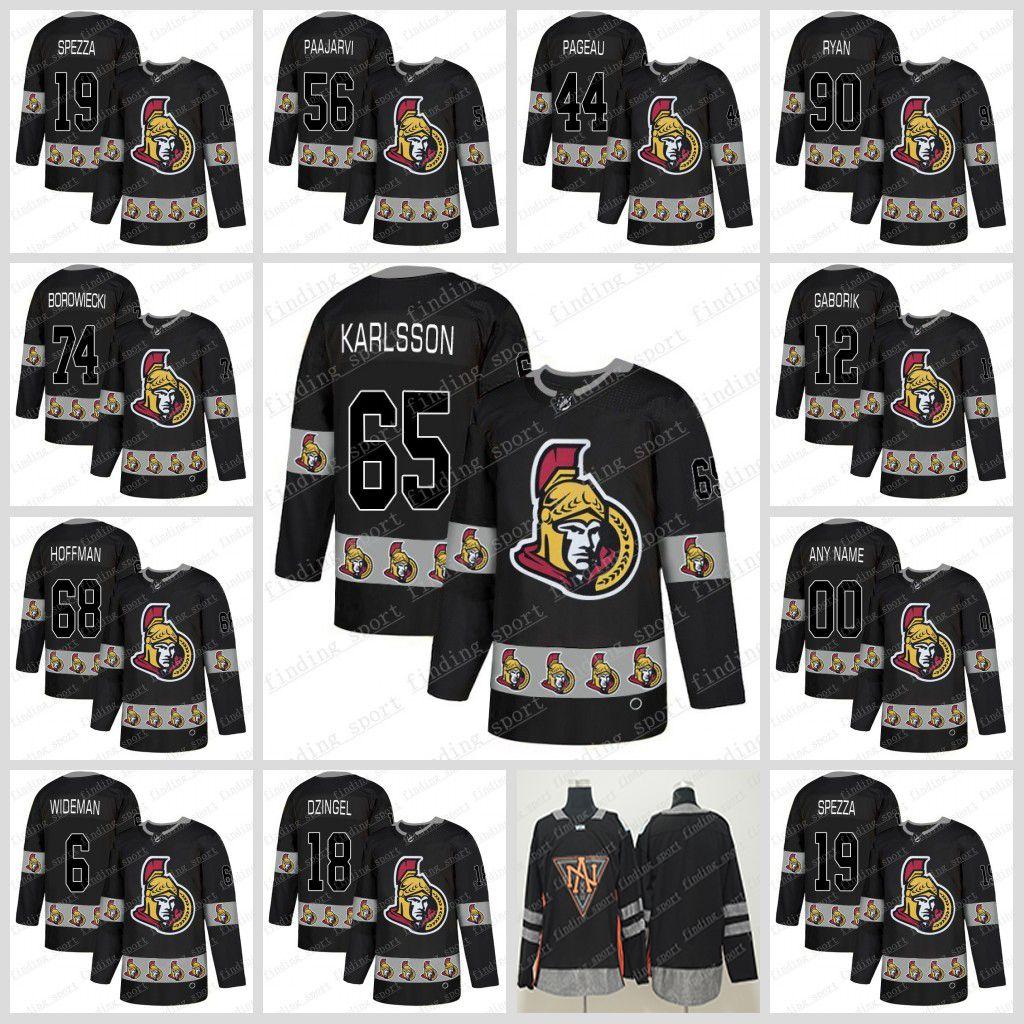 new concept 211b1 a4197 2019 new fashion black 65 Erik Karlsson 61 Stone 9 Bobby Ryan 41 Anderson  95 Duchene 44 Jean-Gabriel Pageau Ottawa Senators Hockey Jerseys