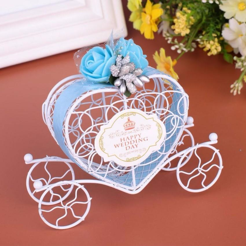 Creative New Candy Boxes Romantic Carriage Sweets Chocolate Box Wedding Party Favors