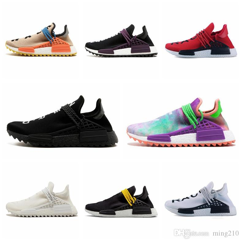 Nmd Shoes 2018 Pharrell Williams Nmd Human Race TR Mens Womens Running  Shoes Pharrell Williams Human Races Pharell Williams Nmd Nmd Shoes 2018  Pharrell ... 904690733a