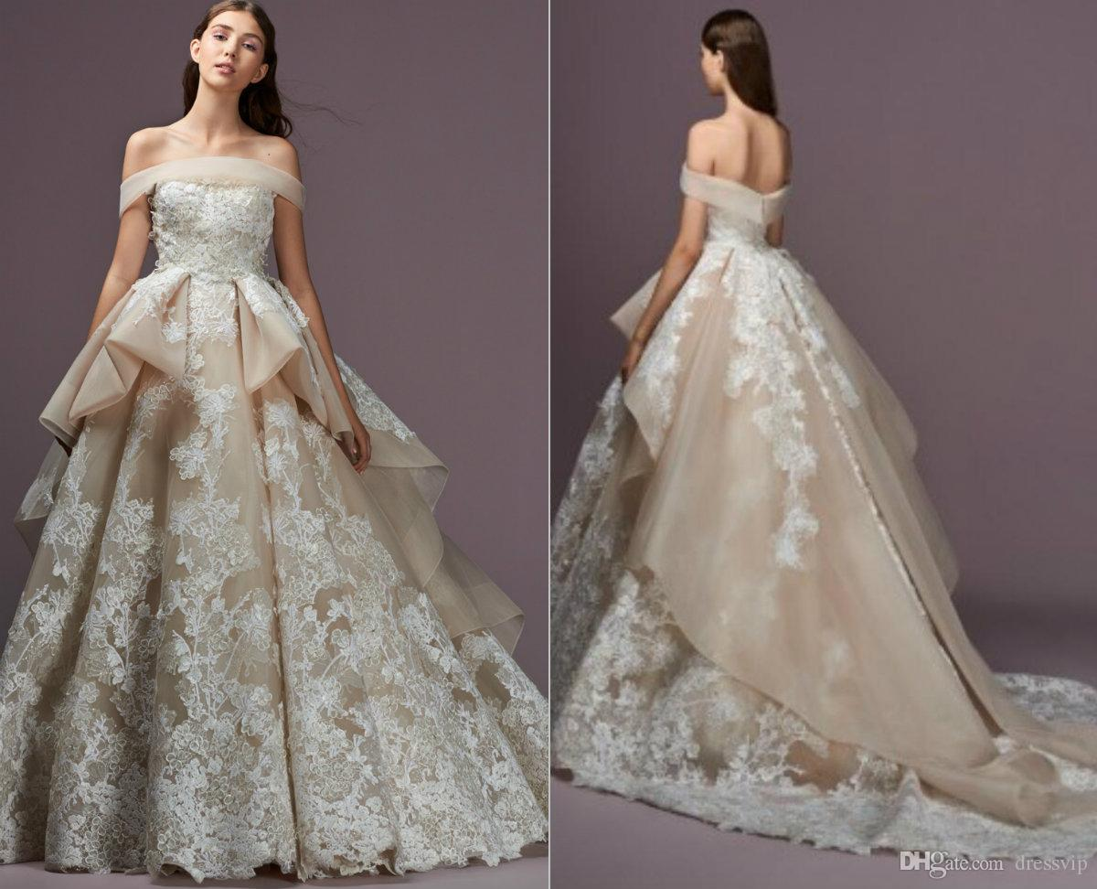 Discount saiid kobeisy wedding dresses lace appliques off the