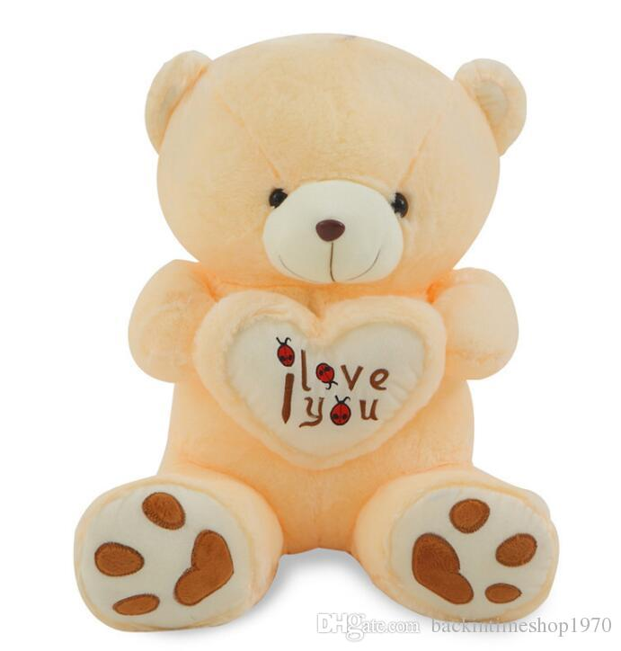 Big Ich liebe dich Teddybär große gefüllte Plüschtier hält Liebe Herz weiches Geschenk für Valentinstag Geburtstag Mädchen Brinquedos