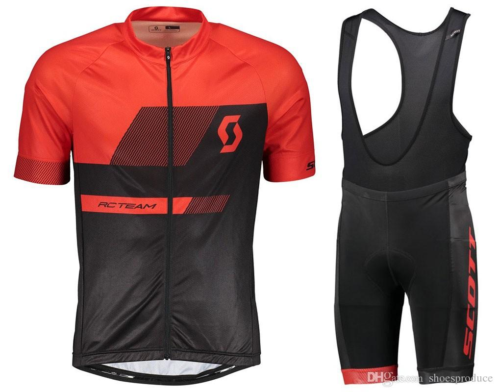 2018 Scott Short Sleeves Cycling Jersey Bib Sets Ropa De Ciclismo ... 1a1e6bc93