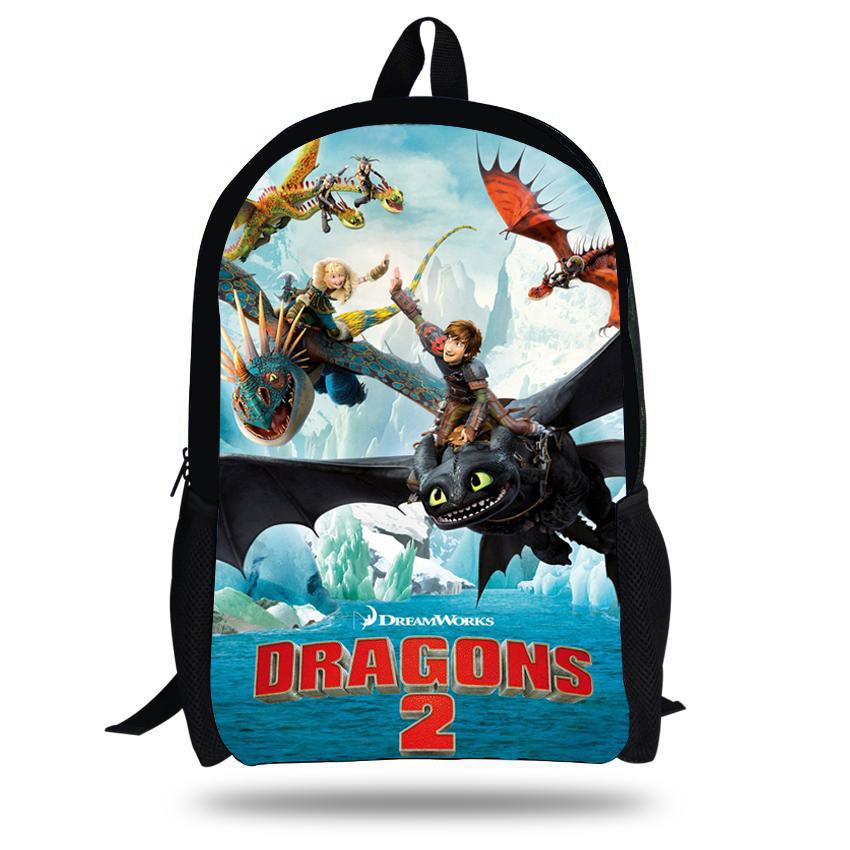 16 Inch Mochila Infantil How To Train Your Dragon Backpack Children School  Bags Boys Hiccup Toothless Backpack Kids Age 7 13 Y18110107 Wheeled  Backpacks For ... 168aacc9cd