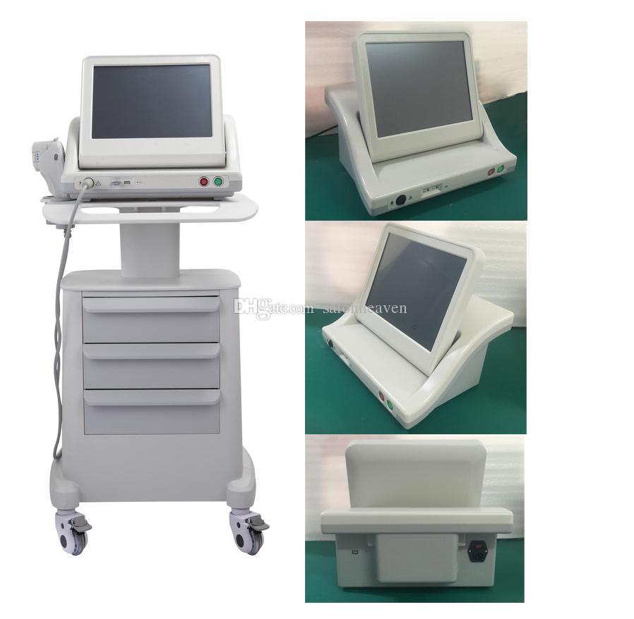 의료 학년 HIFU 실제 미국 표준 고강도 집중 초음파 HIFU 얼굴 리프트 HIFU 슬리밍 기계 3 또는 5 팁