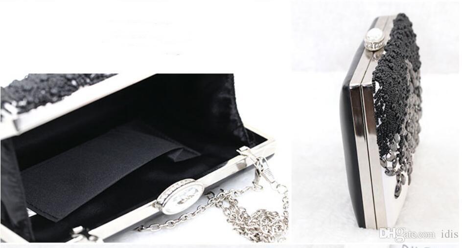Новый ручной работы бисера вышитые ужин мешок воды дрель цепи свадьба сумка рука с одним плечом косой небольшой мешок