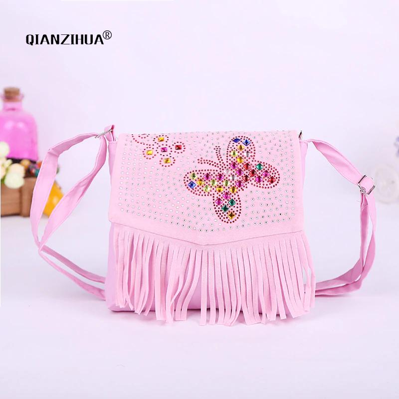 cfb0d73bc3 Baby Girl Cute Tassel Bags Diamond Butterfly Mini Shoulder Bags For  Children Girls School Bags Princess Cross Body Clutch Bag Wholesale Bags  Black Handbag ...