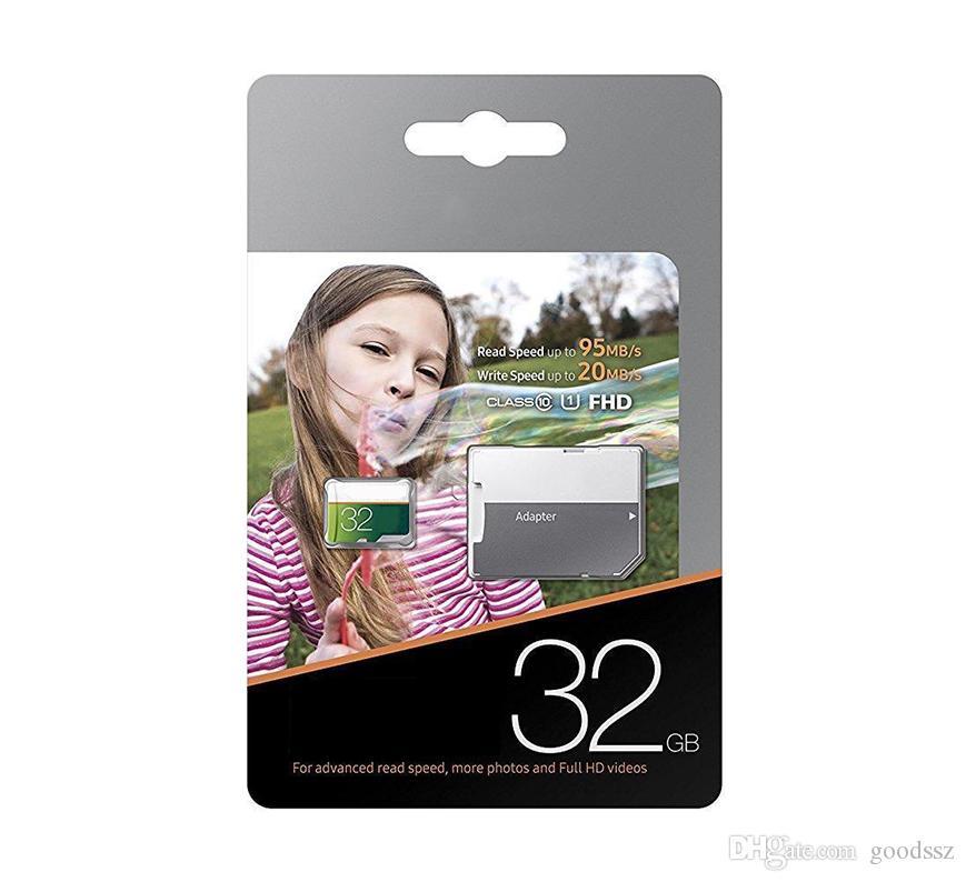 실제 용량 32GB 16GB EVO Select UHS-I Trans Flash TF 카드 클래스 10 U1 메모리 카드가있는 어댑터가 빠른 속도