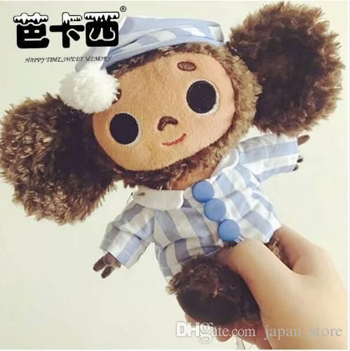 2019 Cute Monkey Plush Toy Cheburashka Soft Doll Russia Anime Toy