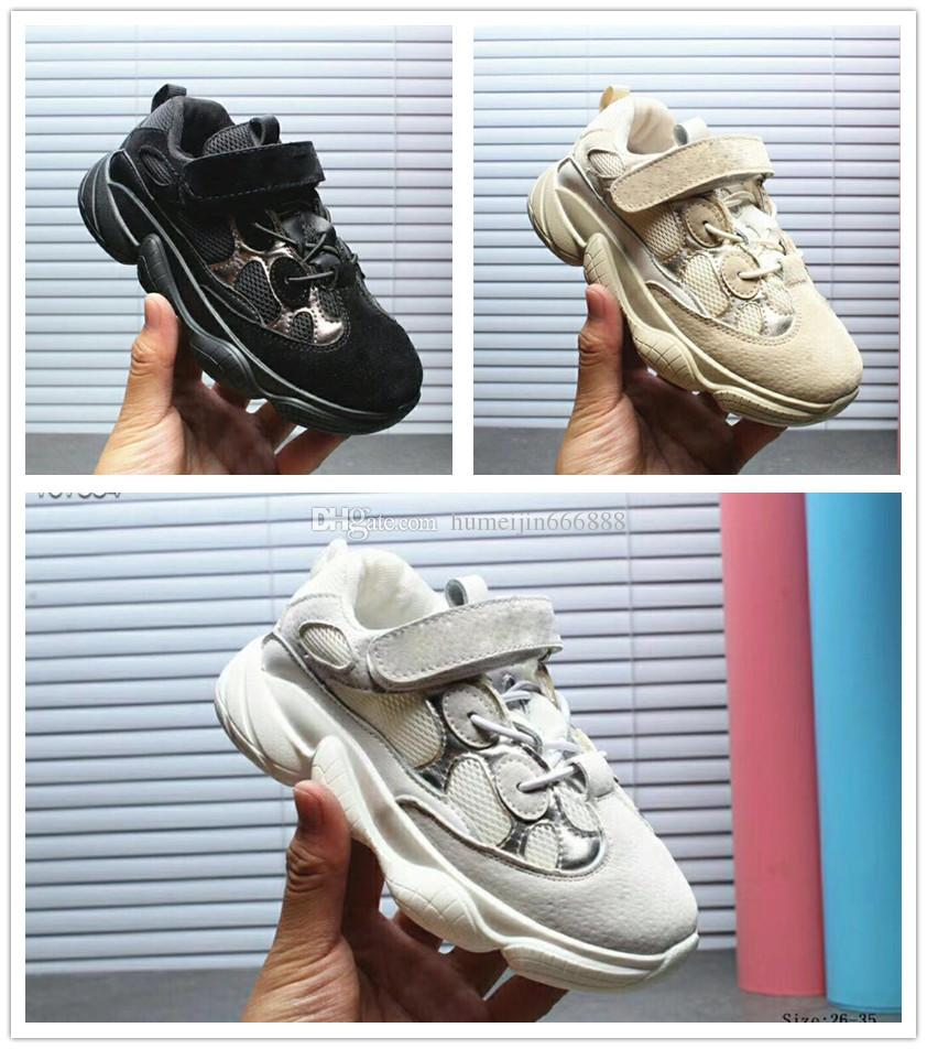 a8474e1529e6 2018 Kids Shoes Wave Runner 500 Boost Kanye West Running Shoes Boy Girl  Trainer Sneaker BOOST 500 Sport Shoe Children Athletic Shoes Sport Shoes  For Boys ...