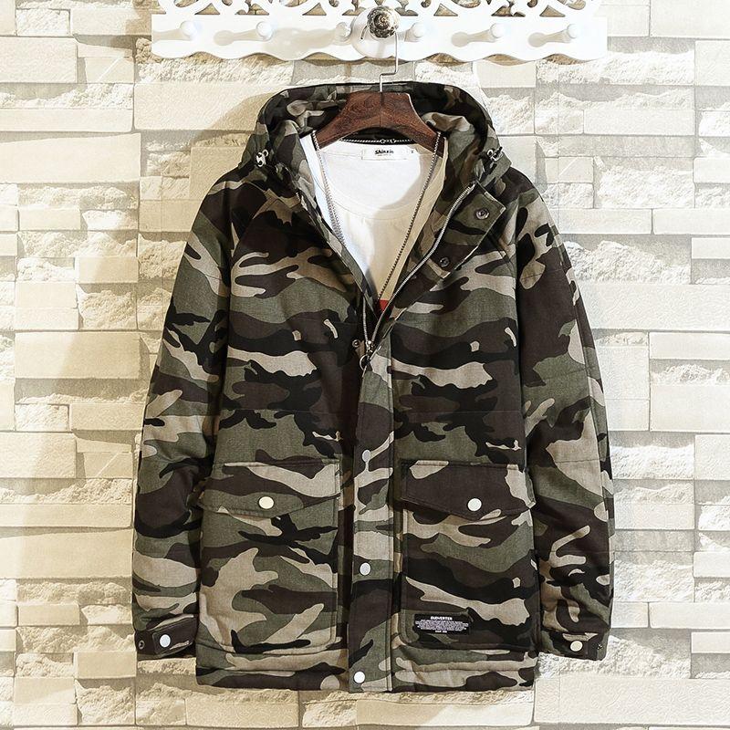 Acquista termiche 5xl Camouflage Mens Jacket M Parka Warm Men Winter larghe larghe 4xl giacche e Coat UpMSzV