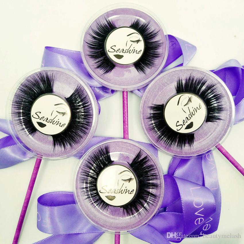 Hot Sale /Box Makeup Handmade Fashion Cosmetic 3D Mink False Lollipop Eyelashes Natural Cross False Perfect Eyelashes