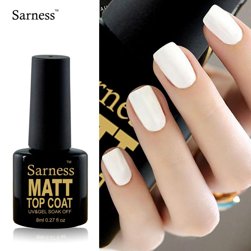 Sarness Varnish By Easy Clean Nail Art Lucky Matt Matte Top Coat