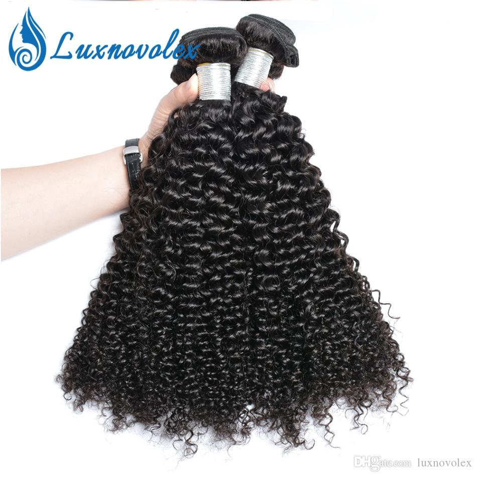 Brazilian Human Hair Kinky Curly Hair Bundles Malaysian Peruvian Indian Curly Virgin Hair 3 Or 4 Bundles Natural Color Dyeable