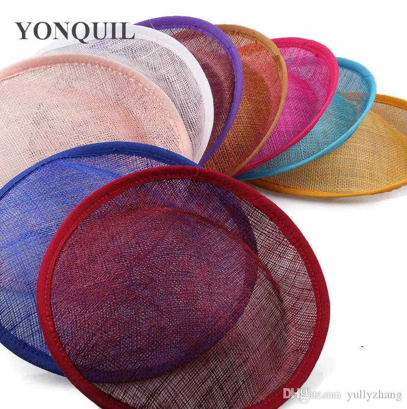 2019 20cm Bule Or Multiple Colors Sinamay Base Fascinator Hat DIY Hair  Accessories Millinery Material Handmade Wholesale From Yullyzhang 21bd0ec4b04