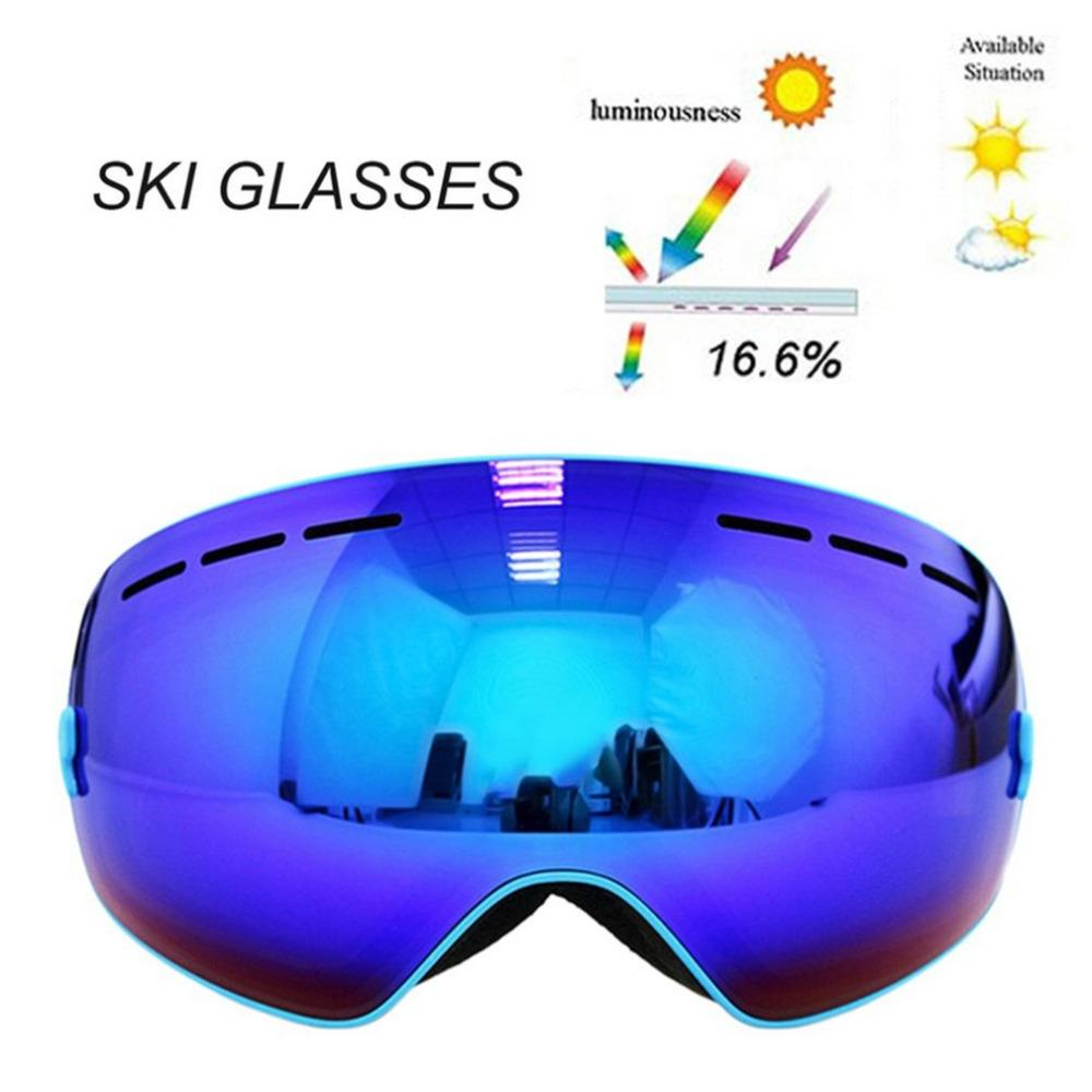 7e940ec1f9e Spherical Surface Skiing Goggles Double Layers UV400 Anti-Fog Mask Glasses  Professional Men Women Snowboard Goggles Skiing Eyewear Cheap Skiing  Eyewear ...