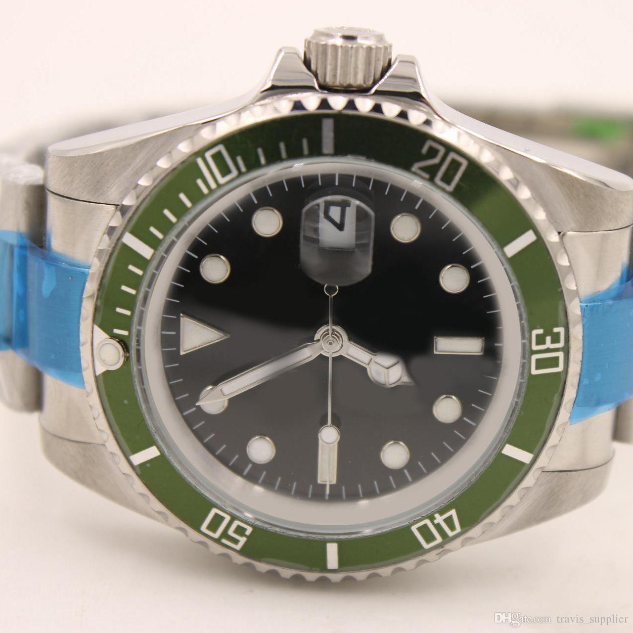 Orologio da uomo di lusso in vetro zaffiro orologi uomo misura 41mm Nero vetro zaffiro aaa orologi di lusso Orologio aaa qualità 54