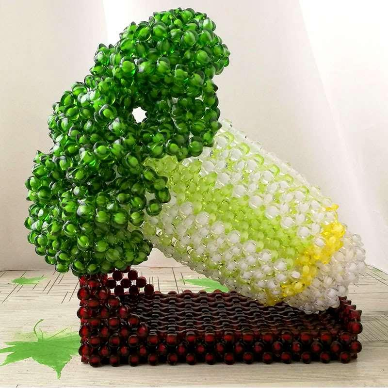 The new selling handmade beaded jade cabbage are finished Home Furnishing decoration office mascot ornaments