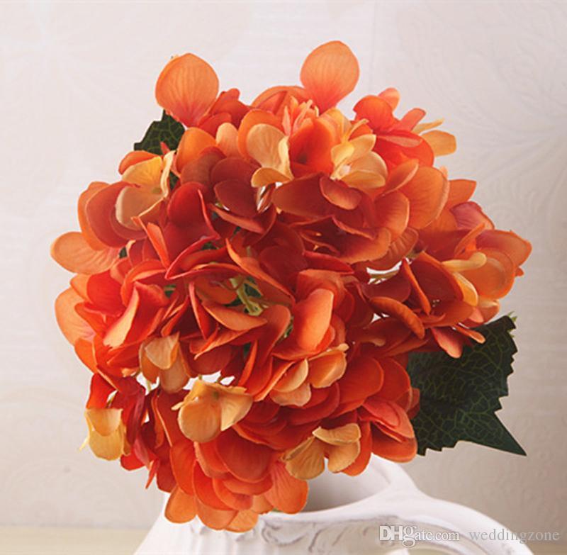 Artificial Silks Hydrangea 47*19cm Simulation Single Branch Silk Hydrangeas For Wedding Centerpieces Home Party Decorative Flowers