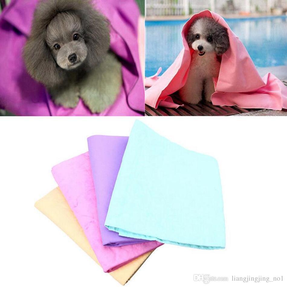 تقليد جلد البقر الكلب منشفة بولي ماصة مريحة مريحة التهيأ PET الكلب القط تنظيف حمام منشفة OOA4633
