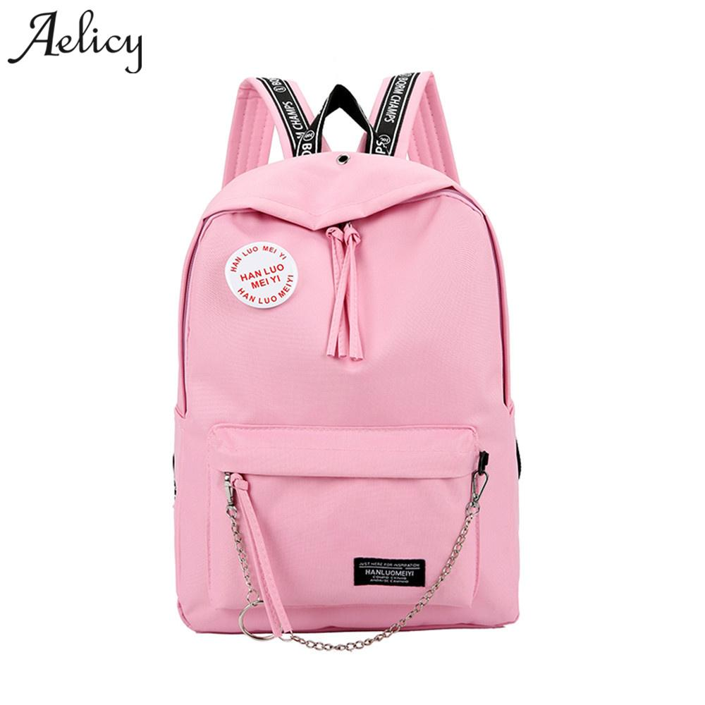 308dd318ab Aelicy Luxury Women S Fashion Candy Colors Leer Canvas Backpack School Bag  For Girls Rucksack Solid Korean Fashion Backpack Backpacks For Kids Backpack  With ...