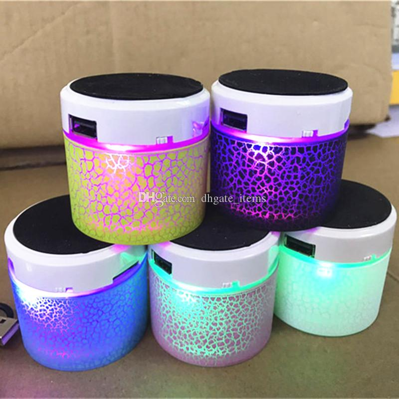 LED S10A9 Crackle Bluetooth Speaker Mini Mobile Phone Loudspeakers Portable  Music Player Sound Box Speakers for iphone x 8 samsung s9 plus