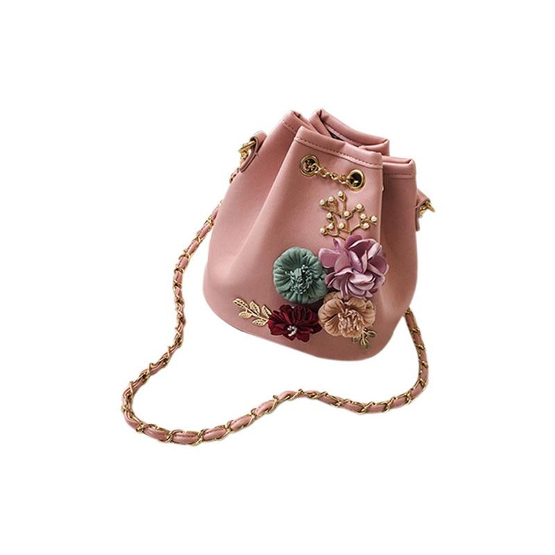 f3cc85503798f Großhandel NIBESSER Frauen Eimer Taschen Mode Einfarbig Blumen Kleine  Frische Frau Schulter Slung Clip Kleine Taschen Weiblichen Beutel Von  Fwfling