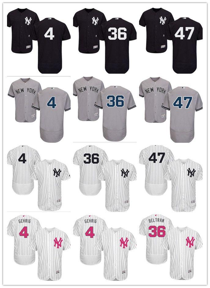 3445348712256 2019 Custom Men S Women Youth New York Yankees Jersey  36 Carlos Beltran 47  Jon Niese 4 Lou Gehrig Black Grey White Baseball Jerseys From Gzf606
