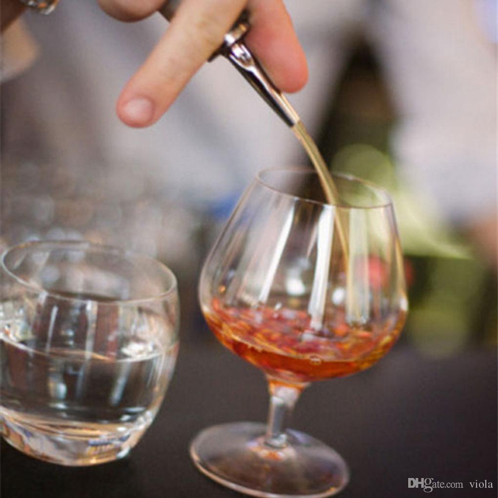 En iyi 10.5 cm Paslanmaz Çelik Viski Likör Yağı Şarap Şişesi Pourer Cap Bacalı Stopper Ağız Dağıtıcı Barmen Ev Bar Araçları 1500 adet