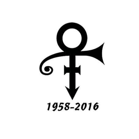 15X11 1CM 1958-2016 Prince Symbol Music Musician Decal Vinyl Car Sticker  Car-Styling S8-0108