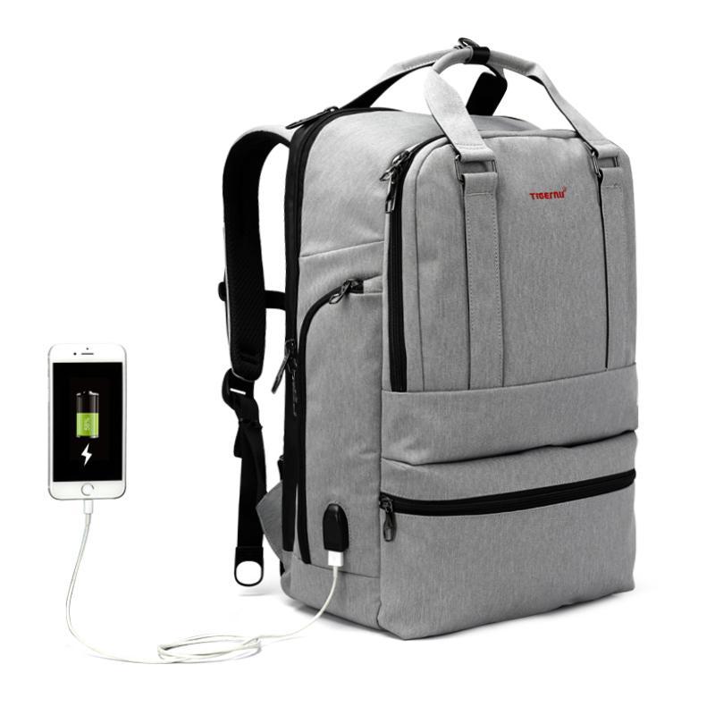 347f3fb982c5 Tigernu Oxford Business Travel Tablet Bag USB Laptop Backpack Handbag For  Men Mochila Travel Backpack Duffel From Gwyi