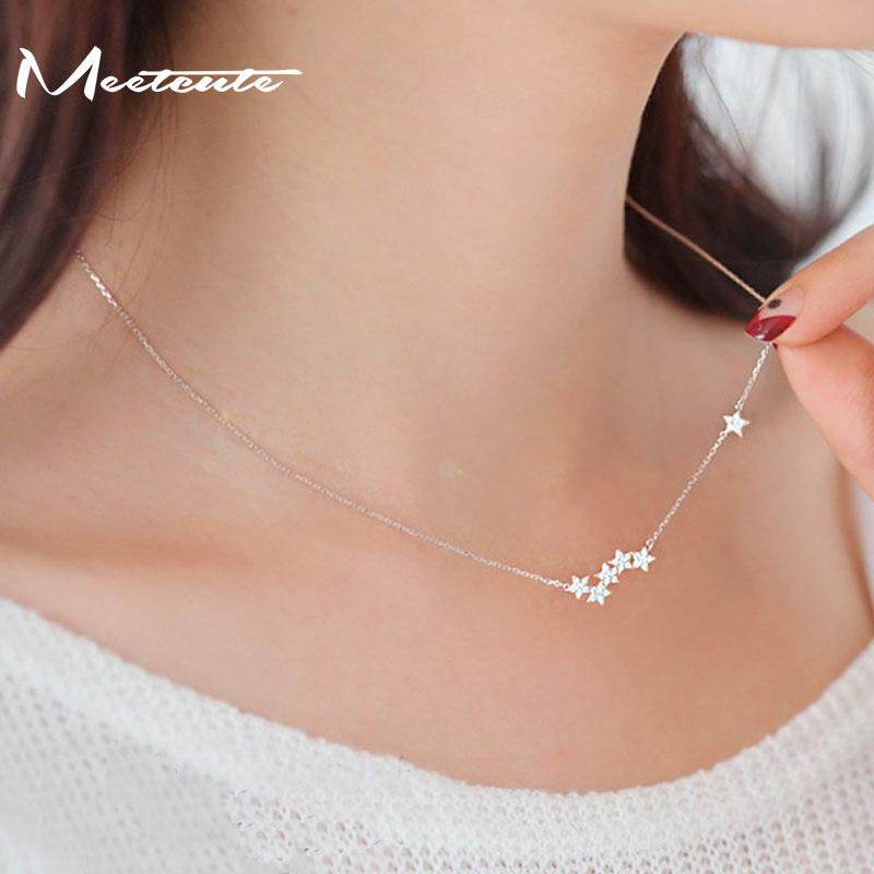 Wholesale meetcute drop shipping 925 sterling silver necklaces star wholesale meetcute drop shipping 925 sterling silver necklaces star pendants necklaces jewelry collar necklace pendants for women de plata cute pendant aloadofball Images
