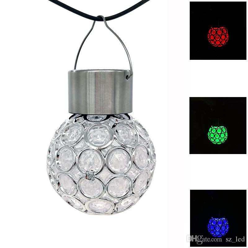 Landscape Gazing Hanging Light Led Ball Sparkling Solar Lamp Crystals Holiday Outdoor Decorative Powered Garden GqVLUMpjSz