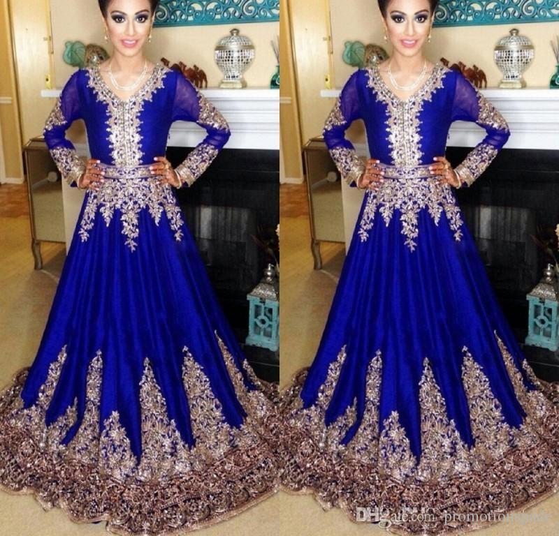 Abaya w Dubaj Kaftan Muzułmanin Suknie Wieczorowe Islamski Abaya Koronki Haft Długi Rękaw Arabski Prom Evening Sukienka Marokańska Kaftan