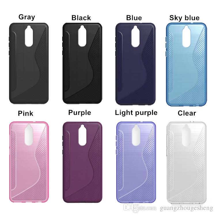Case For Samsung Galaxy A8 2018 A530F / A8 Plus A8+ 2018 Brushed Design Soft S Line TPU Back Cover