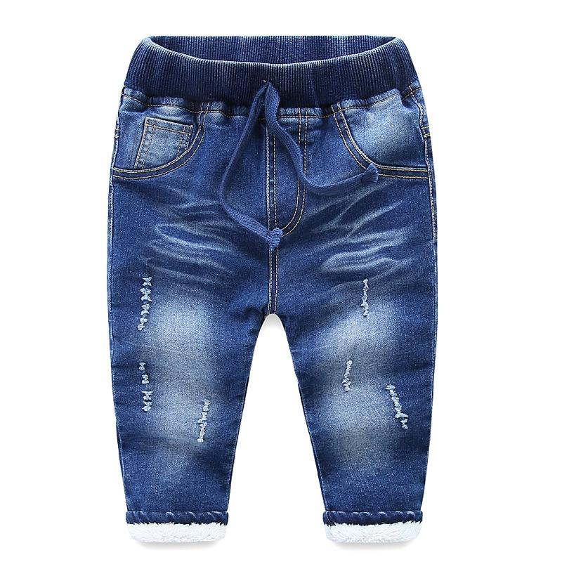 f3c72ebf 2018 Autumn Winter Baby Boys Jeans Pants Children Clothing Denim Kids Boy  Trousers Plus Velvet Pants For Boys Clothes Army Pants For Toddlers Boys  Tracksuit ...