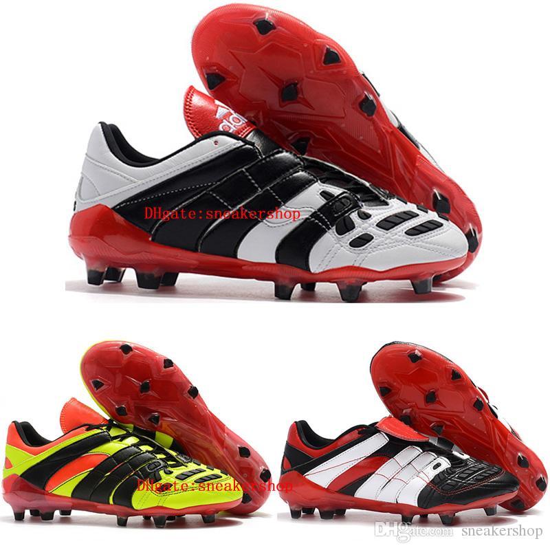 2018 Cheap Soccer Cleats Predator Accelerator Electricity FG Soccer Shoes  Predator Tango Mens Football Boots Tacos De Futbol Wedge Boots Waterproof  Boots ... 5e746966eb83b