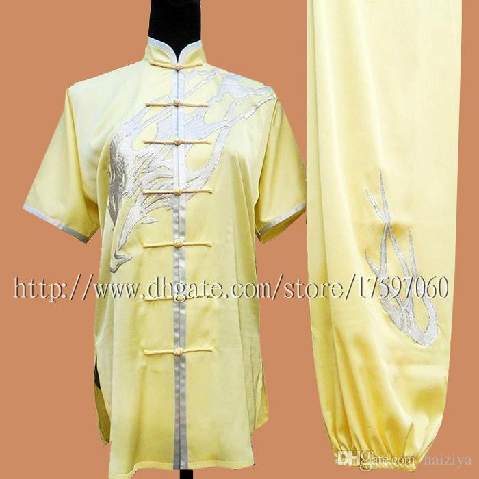 Çin Wushu forması Kungfu Savaş sanatları erkekler kız erkek çocuk kadın çocuk yetişkinler için rutin kimono işlemeli kostüm uygun giysi