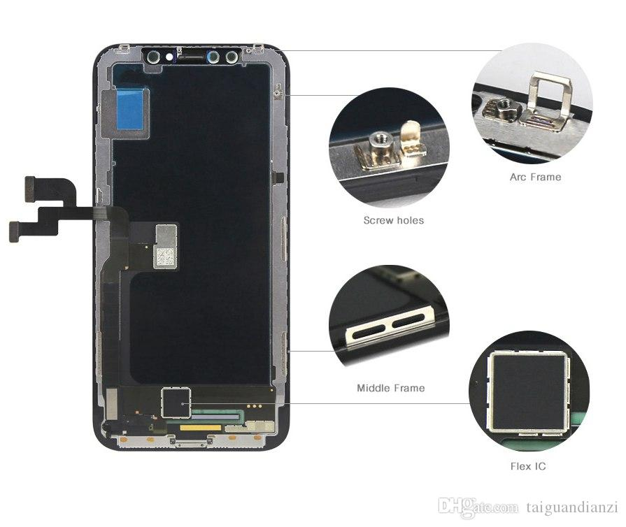 100% Test Work Good LCD Replacement For iPhone X LCD Display 3D Touch Screen Digitizer Assembly Black Color YOUDA Quality