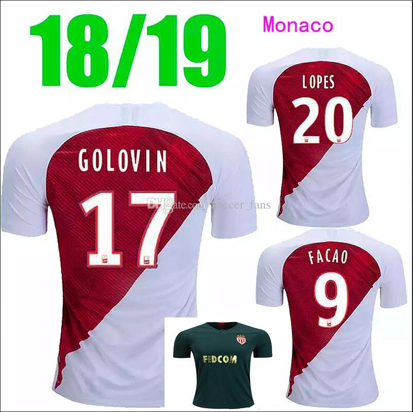 18 19 Monaco Jersey Geluowenmasai Short-Sleeved Cold Door Thai ... 5997c9092
