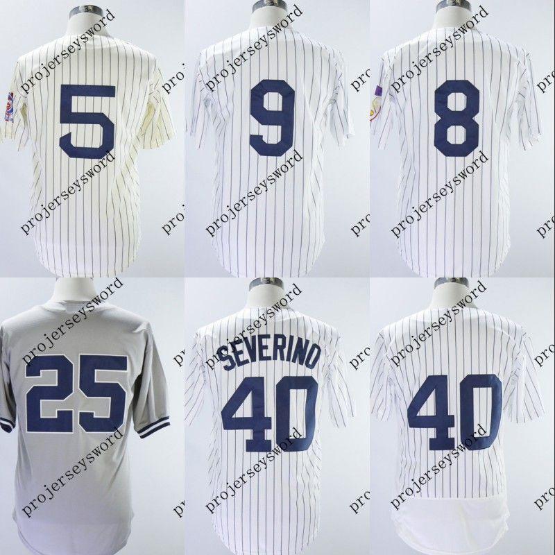 4a303f418 2019  40 Luis Severino Jersey New York Mens 5 Joe DiMaggio 8 Yogi Berra 9  Roger Maris 25 Gleyber Torres Baseball Jerseys Cheap S XXXL From  Projerseysword