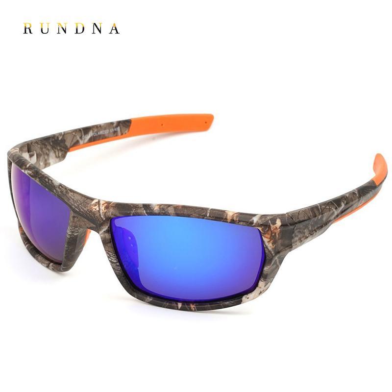 48862ca17634 2019 RUNDNA Camo Polarized Sports Sunglasses Mens Outdoor Camping Hunting  Cycling Bike Riding Fishing Sunglasses Flash Blue Mirrored From  Hongmihoutao