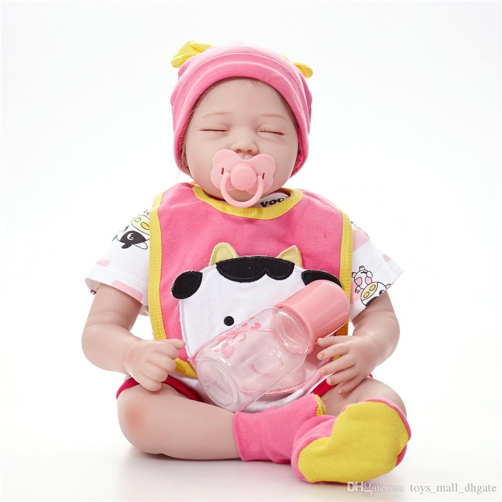 Großhandel 22 Zoll Reborn Baby Puppen Silikon Vinyl Newborn ...