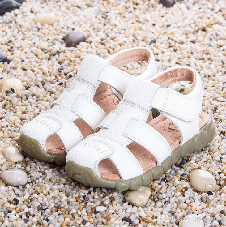 Wholesale 2018 summer child sandals PU leather shoes for boys Baotou tide baby Toddler shoes first walker free shipping 1193