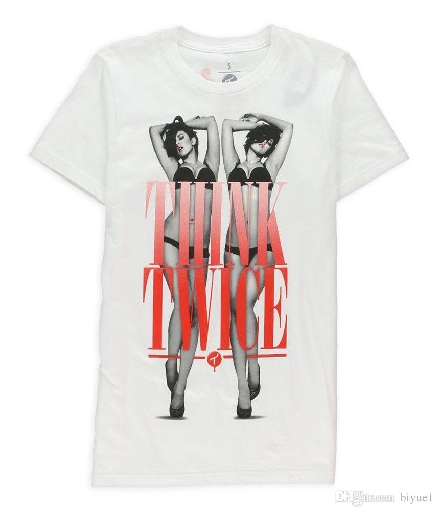 279c76160a0 Compre Ecko Unltd. Os Homens Pensam Duas Vezes T Shirt Gráfico Branco S De  Biyue1