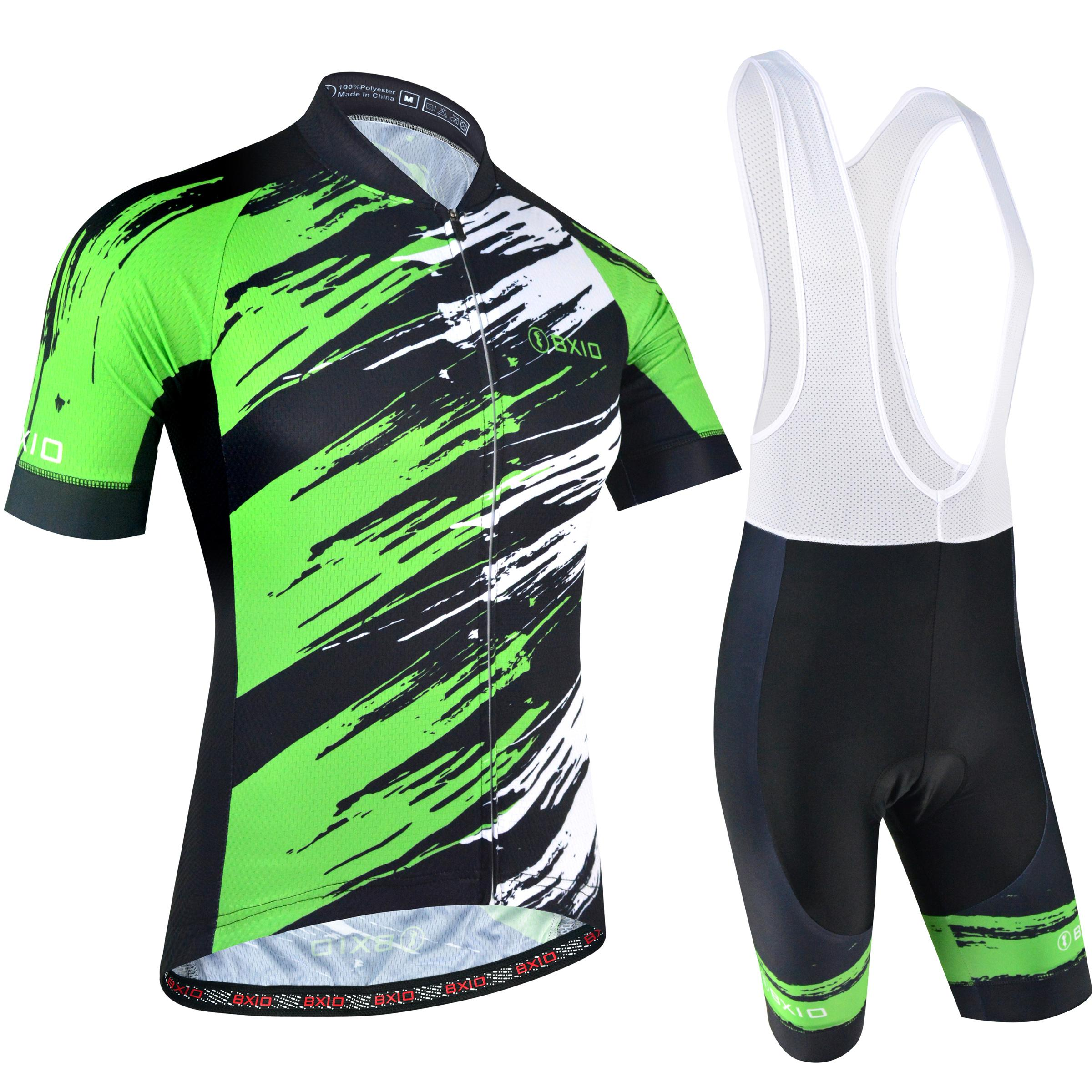 17c9efba1 2018 BXIO Brand Cool Cycling Jerseys Highly Recommended Graffiti Style Bike  Clothing Green And White Short Sleeve Ropa Ciclismo Men BX 170 Biking Gear  ...