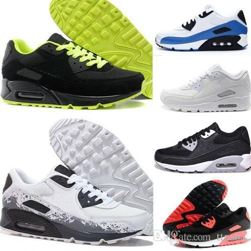 7ccccf3c2e0b0 ... inexpensive compre 2018 nike air max 90 hombres baratos zapatillas de  deporte zapatos classic 90 hombres