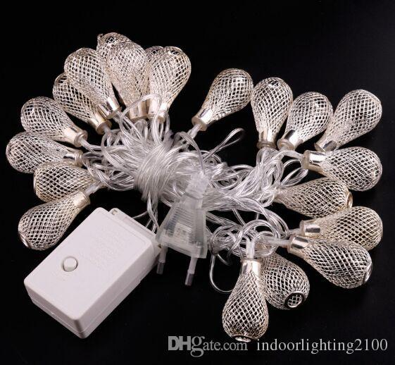 3,5 m AC110V / 220V Optional Warmweiß Led Metall Laterne Lichterketten Weihnachtstag Flash Night Lights Lampe